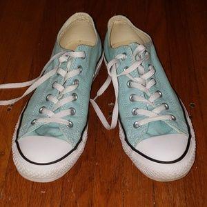 Aqua Converse All Star sneakers EUC 7 men 9 lady